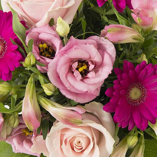 Bouquet de fleurs La vie en rose