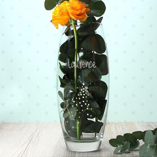 """Fleurs et cadeaux Vase ovale """"Poussières d'étoiles"""" Swarovski®"""
