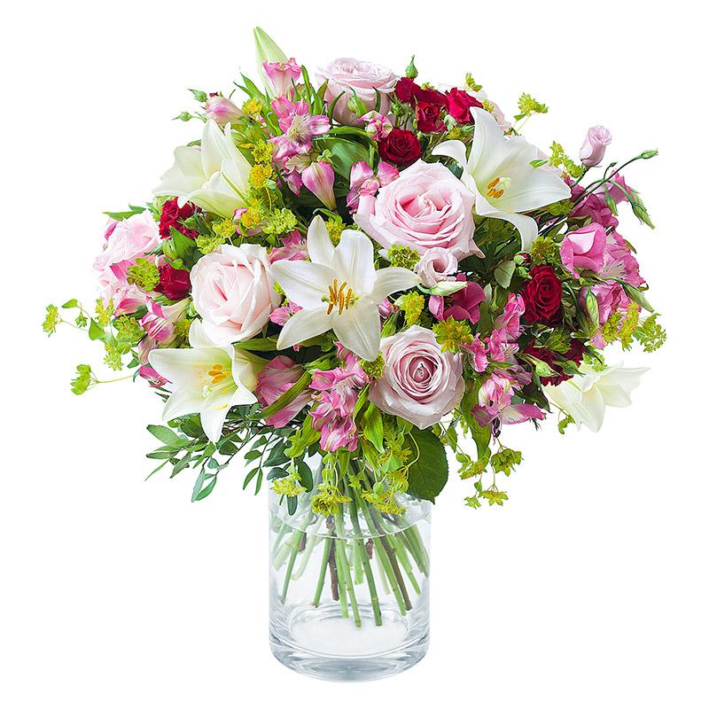 bouquet rose clair romantique interflora. Black Bedroom Furniture Sets. Home Design Ideas