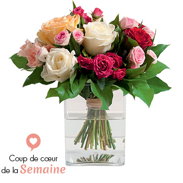 Bouquet de roses Sentiment Félicitations