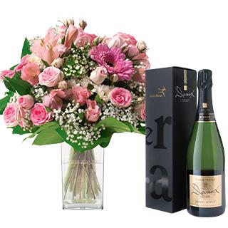 Bonheur et son champagne Devaux Interflora