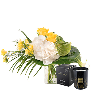 Luciole et sa bougie parfumée Interflora par Esteban