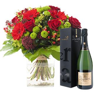 Sensation et son champagne Devaux Interflora