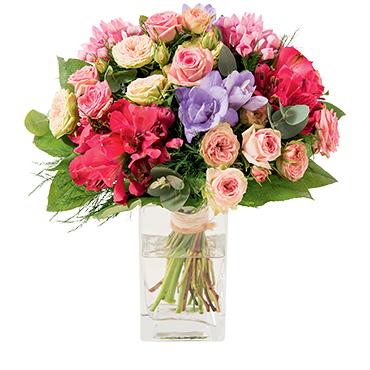 Bouquet de fleurs Soie Fleur pastel