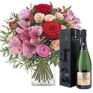 My valentine et son champagne Devaux