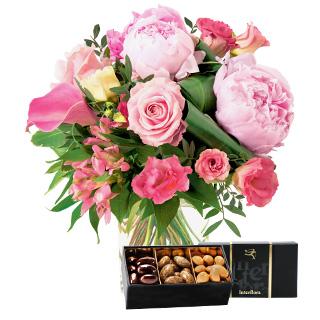 Bouquet de l'amour et ses amandes au chocolat