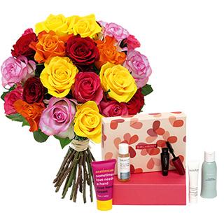Brassée de roses et sa box beauté Birchbox