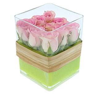 Cube de roses