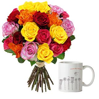 Brassée de roses et son mug