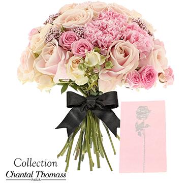 Bouquet de fleurs En rose et noir Collection Chantal Thomass