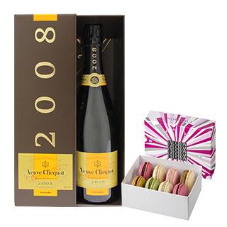 Champagne Veuve Clicquot et ses macarons FAUCHON