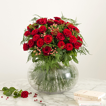 Bouquet de fleurs Passionnément Collection Prestige