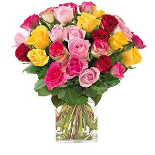 Brassée de 30 roses