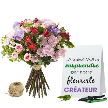 Bouquet de fleurs Bouquet du fleuriste Livraison 90 minutes