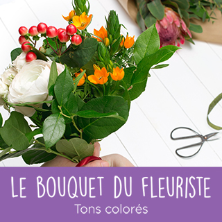Bouquet du fleuriste tons colorés