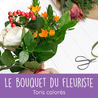 Bouquet du fleuriste tons colorés