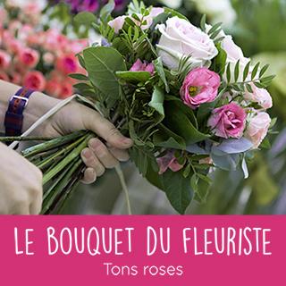 Bouquet du fleuriste tons roses