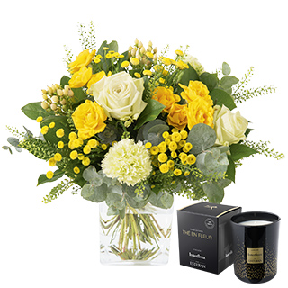 Sunshine et sa bougie parfumée Interflora par Esteban